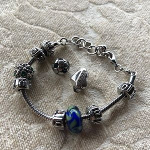Pandora bracelet and all charms